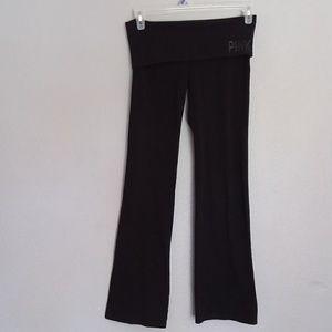 PINK Victoria's Secret black yoga pants size -M